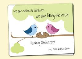 pregnancy announcement cards pregnancy announcement birds in nest 4 cards and 4
