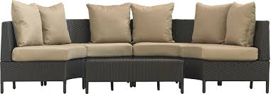 mercury row dowd low profile 5 piece seating group with cushion