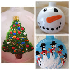 christmas ornaments put paint and glitter glue inside and shake