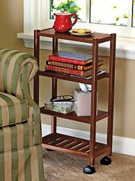 Bookshelf End Table Slim Rolling Cart U0026 Bookshelf Manchester Wood