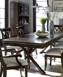 baker street dining table baker street dining furniture 7 pc set dining trestle table 6