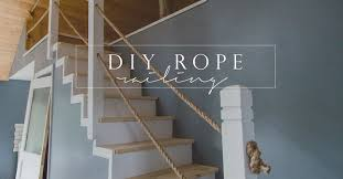 Banister Railing Concept Ideas Diy Rope Stair Railing Cottonwood Shanty