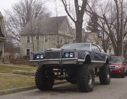 lifted cars monster car custom fab 4wd lifted lincoln continental mk v u2026 flickr