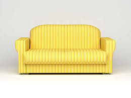 furniture yellow striped fabric sofa with metal legs from sofa