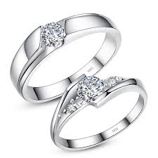 promise ring engagement ring wedding ring set cubic zirconia diamond eternity promise rings for couples
