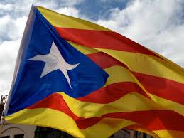 Blue Flag With Yellow Stripe Diada Nacional De Catalunya 11 De Septembre 1714 From Spain