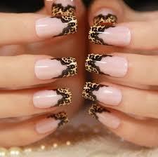 fingern gel design vorlagen nail mit sitze und tierischen mustern auffälliges