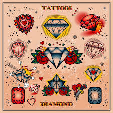 traditional design 8 nice diamond tattoo design ideas
