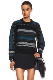 baja sweater proenza schouler baja sweater in teal chambray fwrd