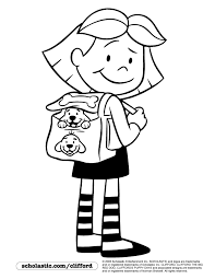 clifford coloring pages field trip with emily elizabeth coloring page coloring pages