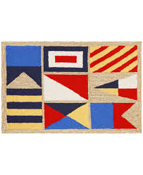 6 X 4 Area Rug Liora Manne Front Porch Indoor Outdoor Signal Flags 2 6