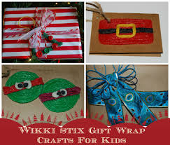 wikki stix gift wrapping crafts and ideas for kids wikki stix