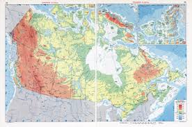 Large Map Of Usa large scale physical map of canada canada large scale physical