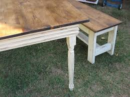 Farmers Kitchen Table by This Is How I Will Finish The Table And Bench Top Stained Brown