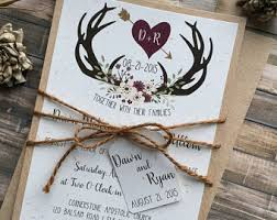 Country Chic Wedding Invitations Rustic Wedding Invitation Etsy