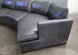reno leather sectional sofa with cuddler in glove timberwolf the