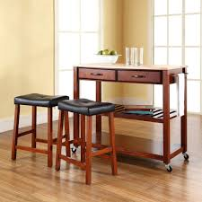 Kitchen Island With Wood Top Home Styles Dolly Madison White Kitchen Cart With Natural Wood Top