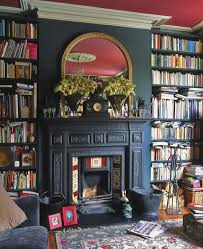Fireplace Bookshelves by Best 10 Library Fireplace Ideas On Pinterest Grey Bookshelves
