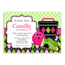 free bowling birthday party invitation templates free printable