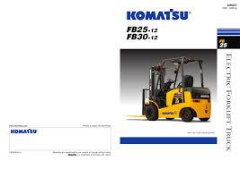 fb 25 30 komatsu forklift pdf catalogue technical