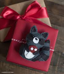wool felt raccoon animal ornaments lia griffith