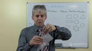 teacher math lesson halves u0026 fourths or quarters youtube