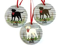 ornaments chocolate lab ornament labrador
