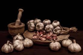garlic mortars spices wooden farm picture hd widescreen