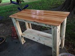 diy grill table plans grillin chillin outdoor grill food prep station diy projects