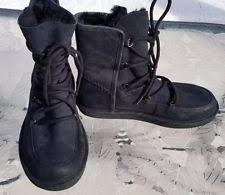 s suede boots size 9 ugg tisdale black leather buckle bicker sheepskin s boots