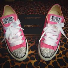 ribbon shoe laces best rhinestone converse products on wanelo
