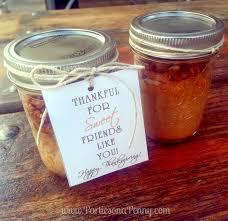 on a pumpkin pecan pie in a jar thanksgiving gift