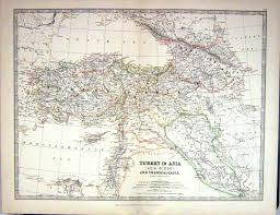 Asia Minor Map by Old Print Antique And Victorian Art Prints Paintings World Maps