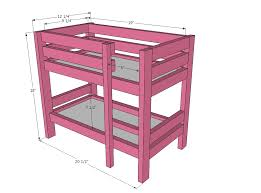 Free Plans For Twin Loft Bed by Ana White Doll Bunk Beds For American Doll And 18