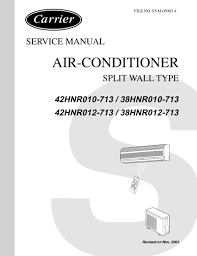 carrier air conditioner manuals air conditioner databases