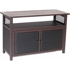 Patio Serving Table Hanover Outdoor All Weather Patio Serving Bar With Storage Han
