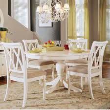5 pc round pedestal dining table american drew camden 5 pc white round pedestal dining table set