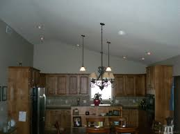 Pendant Lights For Vaulted Ceilings Ceiling Proper Placement Of Recessed Lighting In Kitchen