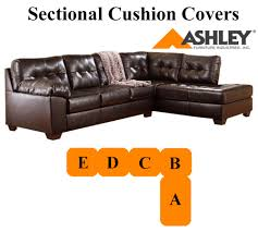 Sectional Cushions Ashley Alliston Chocolate Sectional Replacement Cushion And Cover