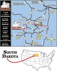Mt Rushmore Map South Dakota Mount Rushmore And Crazy Horse Memorial Map