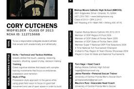 soccer player resume college recruiting my football cv sample