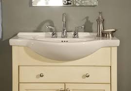 Bathroom Vanity Dimensions by Wall Mounted Vanity Has A Very Slim Frame With Depth Shallow