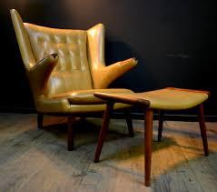 Reupholster Leather Chair Hans Wegner Papa Bear Chair Restoration Vintage Furniture Guru
