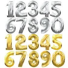 number balloons delivered gold foil number balloons approximately 14 inch 38 cm number