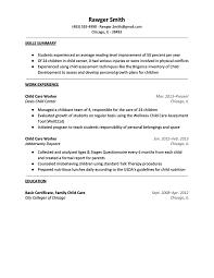 Sle Resume Of Child Caregiver Daycare Resume Template Targer Golden Co