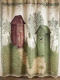 Outhouse Bathroom Outhouses Shower Curtain Foter