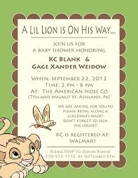 lion king baby shower invitations lion king baby shower invitation template or lion king