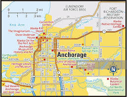 Alaska City Map by Anchorage Alaska Area Map Vector Art Getty Images