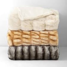 Faux Fur Blankets And Throws Hudson Park Faux Fur Throw Bloomingdale U0027s