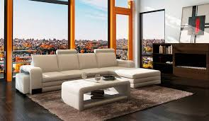 Coffee Table For Sectional Sofa White Leather Sectional Sofa With Coffee Table And Ottoman Vg131
